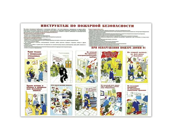 Плакат Инструктаж по пожарной безопасности, фото 1