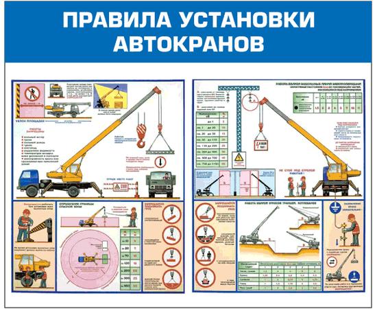 Стенд Правила установки автокранов, фото 1