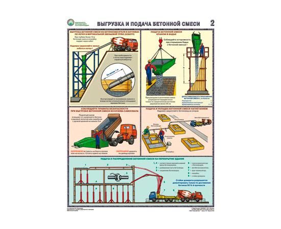 Плакаты Безопасность бетонных работ на строй площадке, фото 2