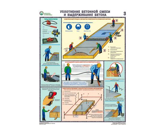 Плакаты Безопасность бетонных работ на строй площадке, фото 3