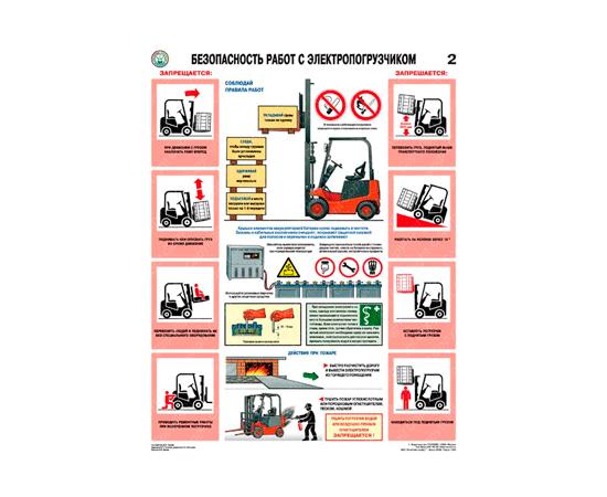 Плакаты Безопасность работ с электропогрузчиками, фото 2