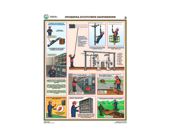 Плакаты Технические меры электробезопасности (4 листа), фото 3